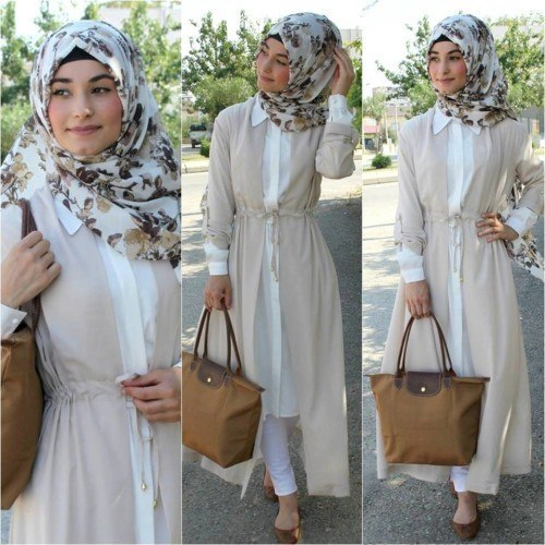 COOL PASTEL COLOR HIJAB OUTFIT