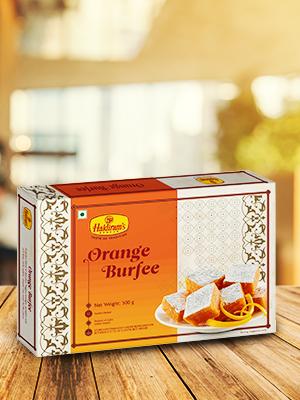 Haldiram's Nagpur Orange Burfee With Delicious & Most Authentic Taste of India