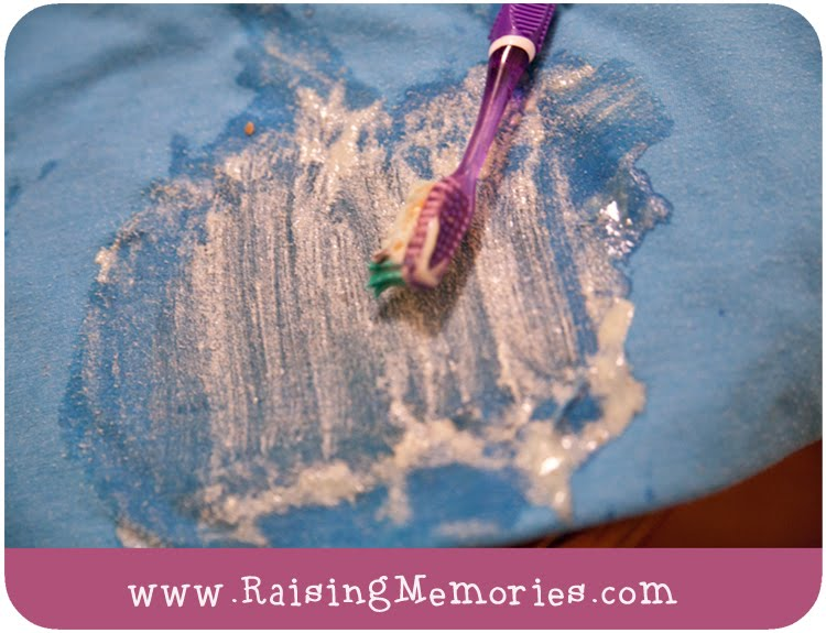 How to remove sticker residue from fabric