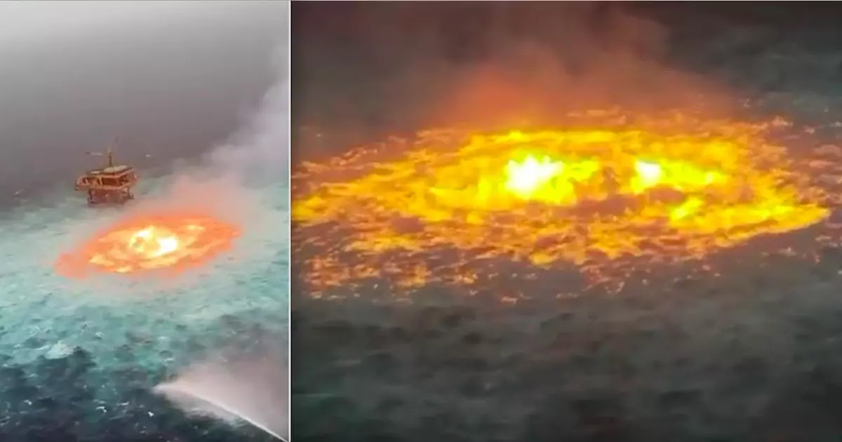 Gas Pipeline Rupture Causes Fire In The Gulf Of Mexico