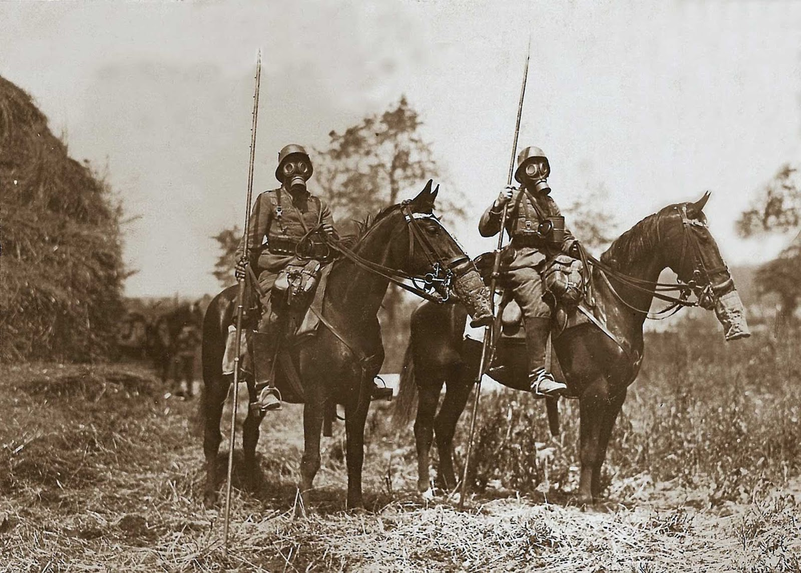 On the Eastern Front, mounted cavalry still had a role and lances saw limited use by the Russian, German and Austrian armies.