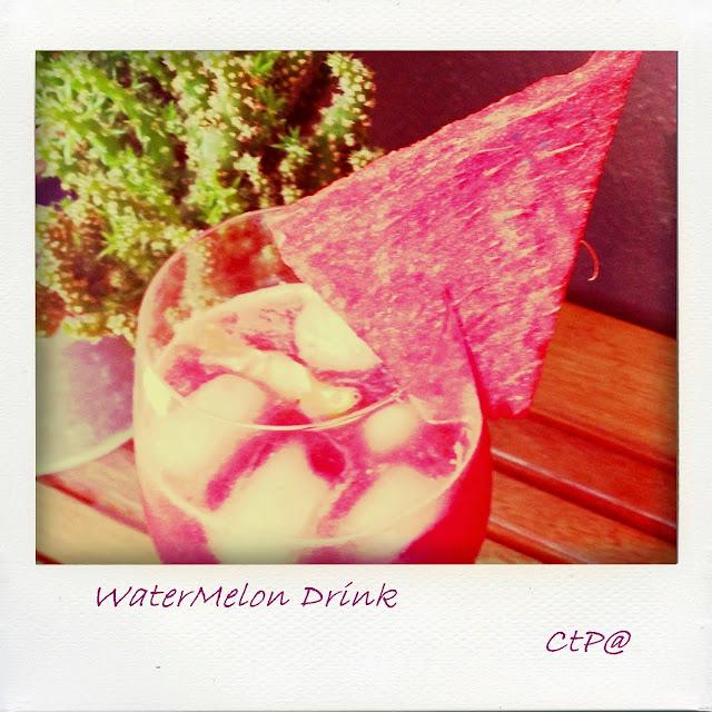 water melon drink o anguria drink dissetatante e fresco