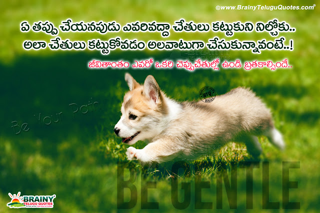 telugu best words on life, self motivational life sayings in telugu, be gentle quotes in telugu