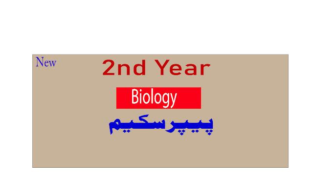 Biology 2nd year pairing scheme 2021