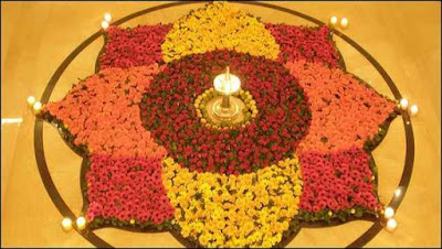 New Rangoli Design Images with Flower