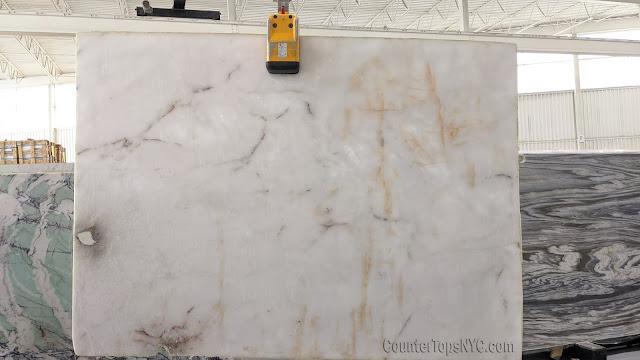 Lumix White Quartzite Slabs NYC
