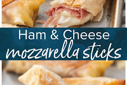 BAKED MOZZARELLA STICKS RECIPE (HAM & MOZZARELLA CHEESE STICKS)