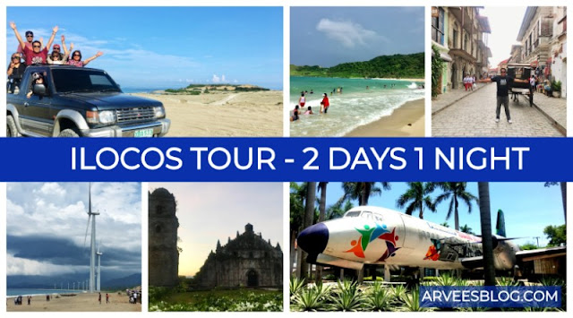 Ilocos Tour 2 Days 1 Night Itinerary from Paoay to Laoag to Pagudpud to Vigan