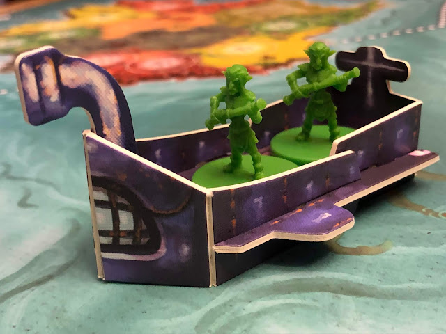 Heroes of Land, Air & Sea Gamelyn Games Order and Chaos Expansion Goblin Faction Boat Submarine; Photo by Benjamin Kocher 2020