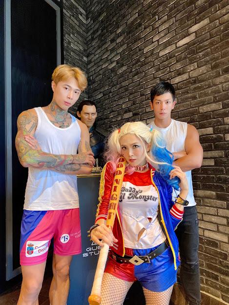 左為台灣旅外排球員吳政陽、右為圓圓武術教練林立揚