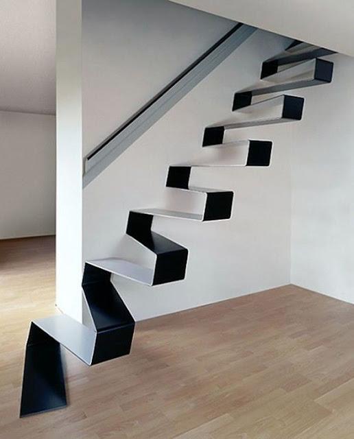 Amazing folding staircase design