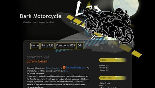 2 template blogger dengan tema motor