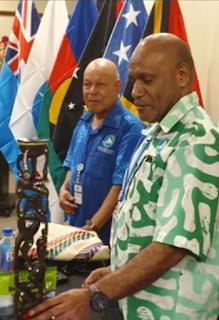 West Papua menyampaikan pidato resmi yang dibacakan oleh Ketua ULMWP, Benny Wenda dalam forum dihadapan para pemimpin Melanesia dalam pertemuan MSG di Fiji, 10-12 Februari 2020.
