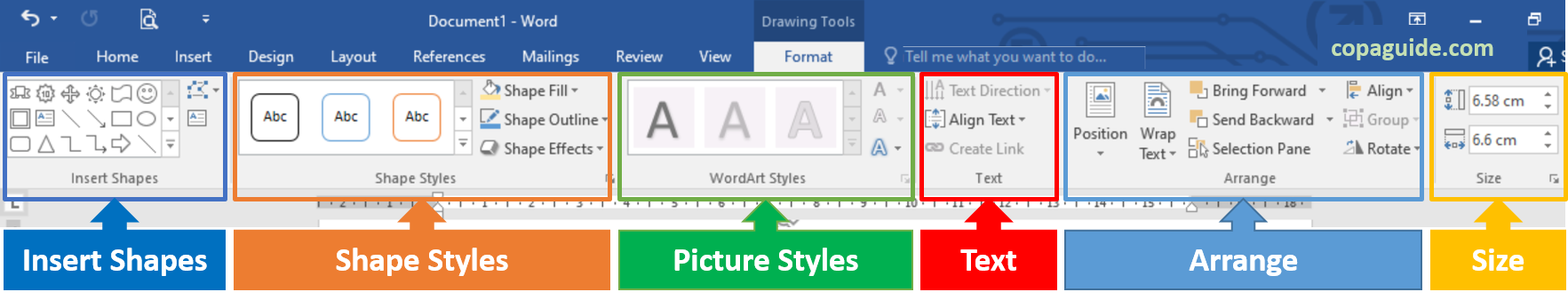 Edit WordArt using Drawing Tools in MS-Word Hindi Notes