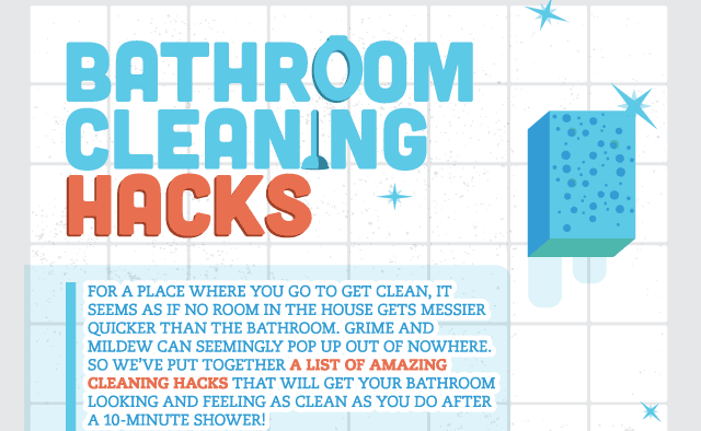 effective bathroom cleaning hacks infographic - Bathroom Cleaning Hacks