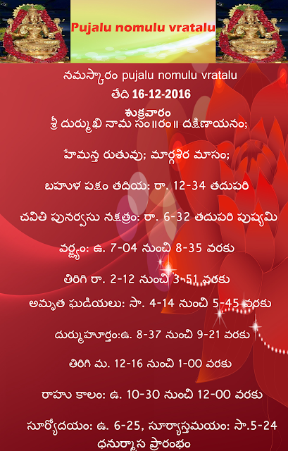 Today's panchagam in Telugu,rasi palalu