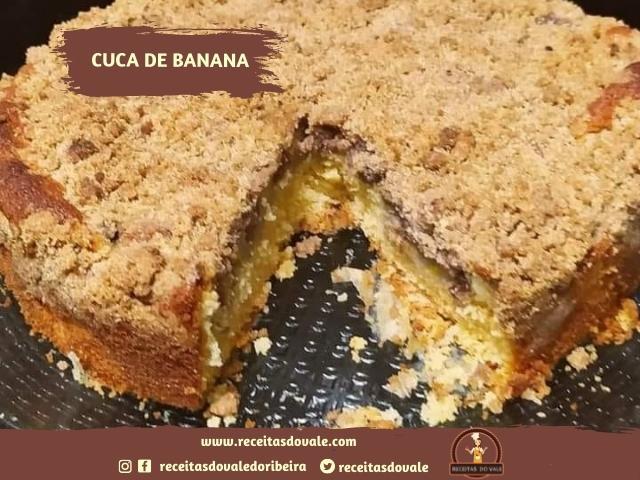 Receita de Cuca de Banana Simples