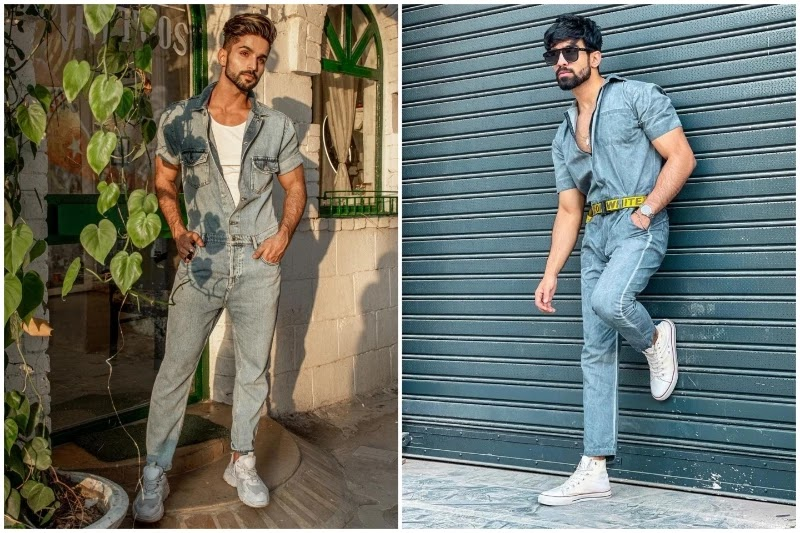 How to carry men's Jumpsuit?
