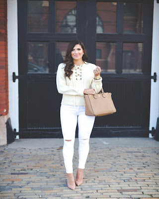 outfit para el trabajo lace up casual
