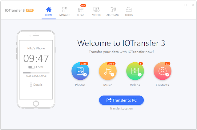 برنامج IOTransfer 3