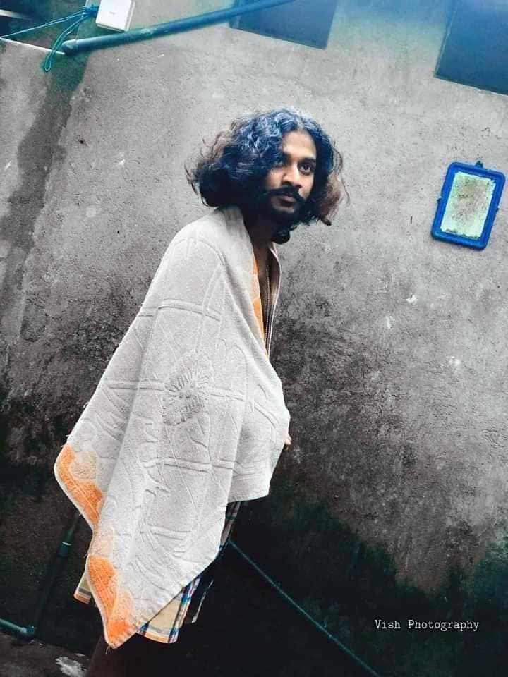 Kerala Long hair man