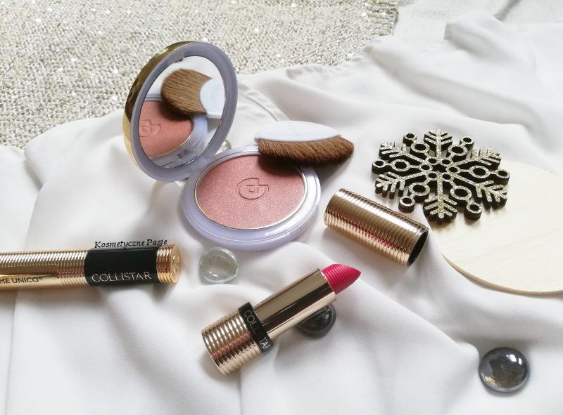 Collistar róż puderniczka szminka