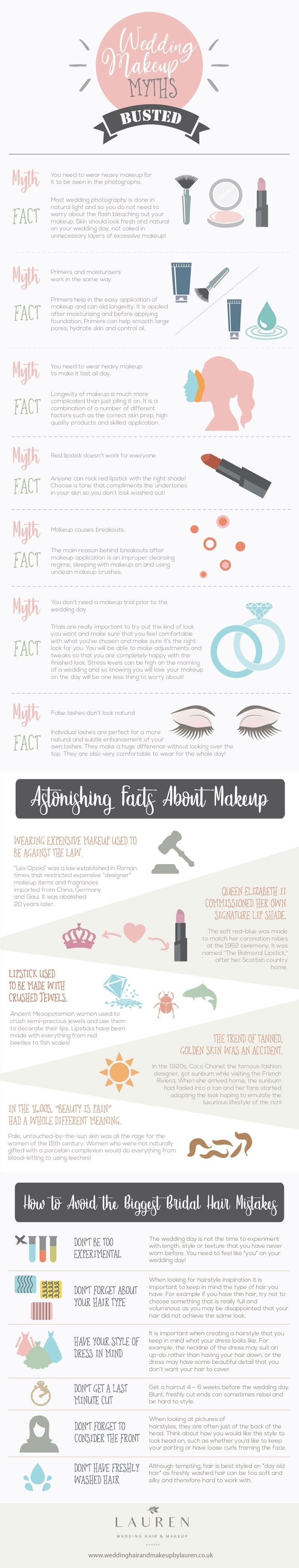Wedding Makeup Myths Busted #infographic