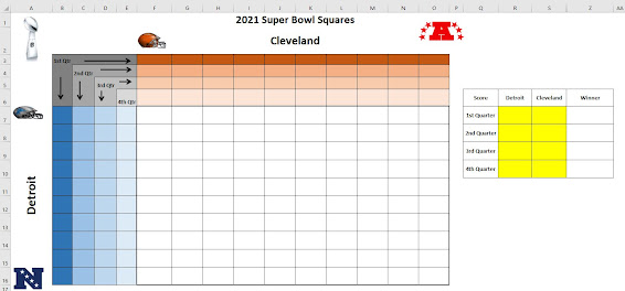 printable super bowl squares in excel