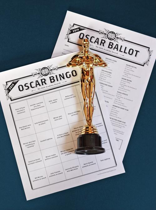 2016 Oscar Bingo game