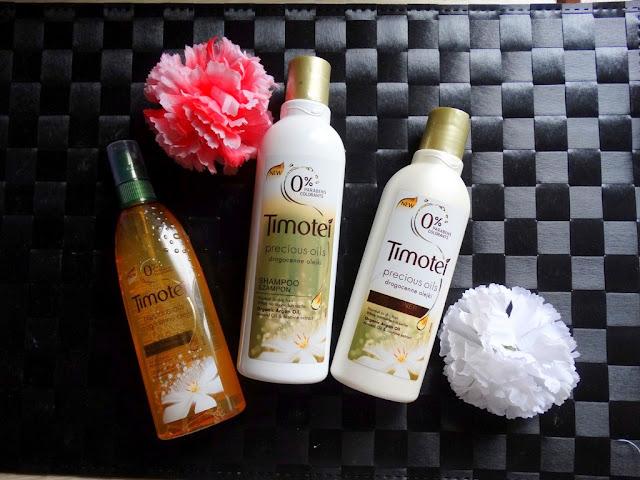 Timotei drogocenne olejki: szampon, odżywka i mgiełka
