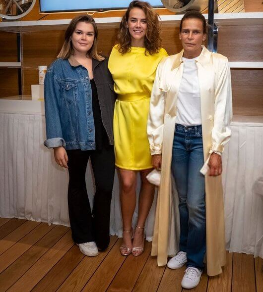 Princess Stephanie of Monaco, Pauline Ducruet and Camille Gottlieb attended the opening of the pop-up store of the fashion brand Alter