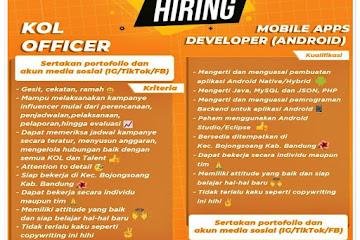 Lowongan Kerja Officer & Android Developer CV Pelita Abadi Solusindo