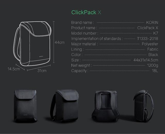 ClickPack X Backpack