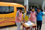 Pemerintah Kabupaten Wajo Menerima Bantuan  2 Bus Sekolah Dari Kementerian Perhubungan