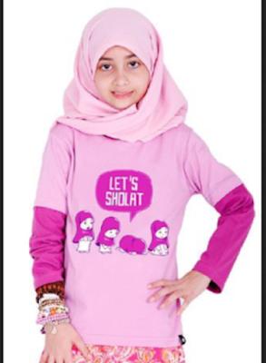 baju muslim casual anak perempuan yang trendy
