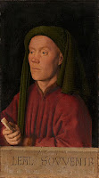 Portrait of a Man (or Léal Souvenir) by Jan van Eyck, claimed to be self portrait of Flemish painter, circa 1432