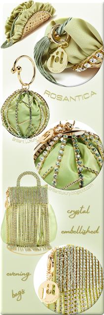 New light green Rosantica evening bags #bags #eveningbags #rosantica #brilliantluxury