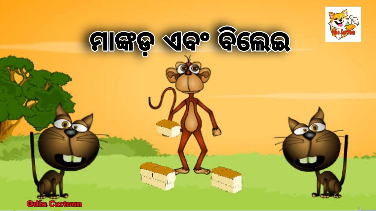 ମାଙ୍କଡ଼ ଏବଂ ବିଲେଇ   Monkey & Cat    Odia Gapa    Odia Cartoon