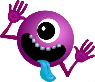 Alien Purple Smiley