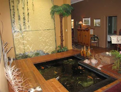 Desain Cantik Kolam Ikan Indoor