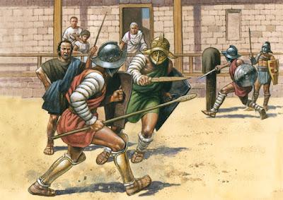 Latihan Gladiator tingkat lanjut (Ludus)