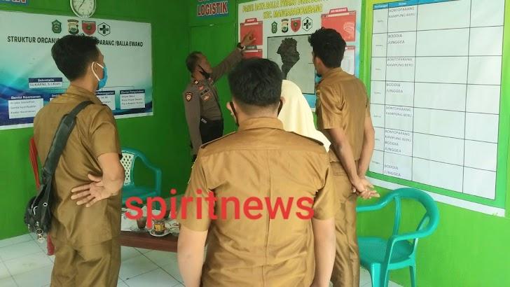 Pantau Balla Ewako, Personil Polsek Marbo Tetap Menerapkan Protokol Kesehatan Di Masyarakat