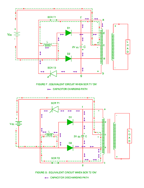 working of parallel inverter with feedback diodes