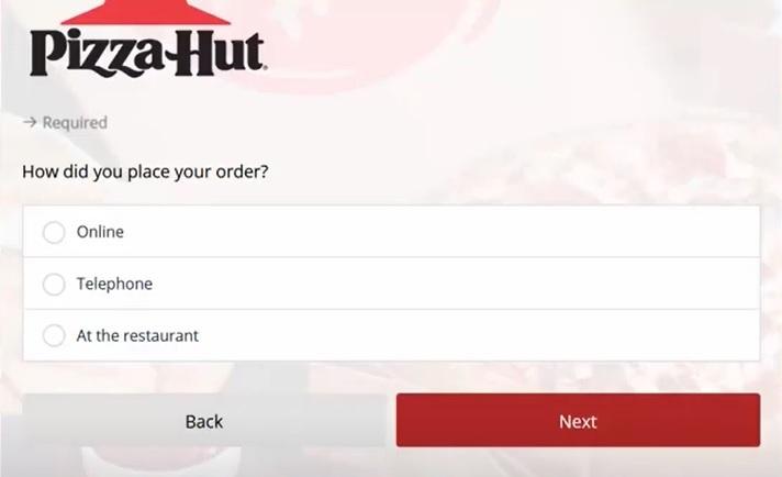 tellpizzahut.com customer survey