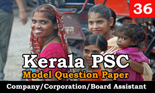 Model Question Paper Company Corporation Board Assistant - 36