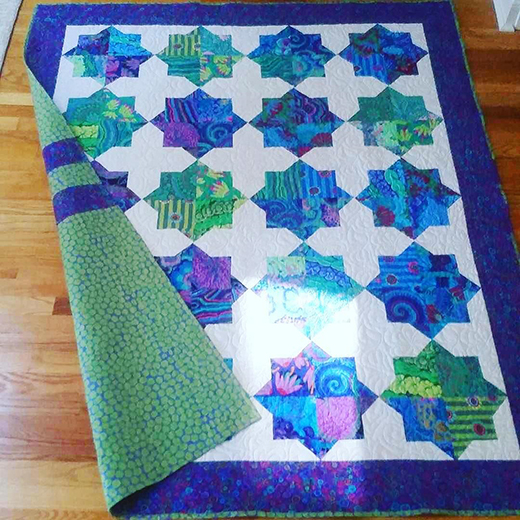 Double Square Star Quilt Designed by Christine Veale, The Tutorial by Jenny Doan of Missouri Star Quilt Co