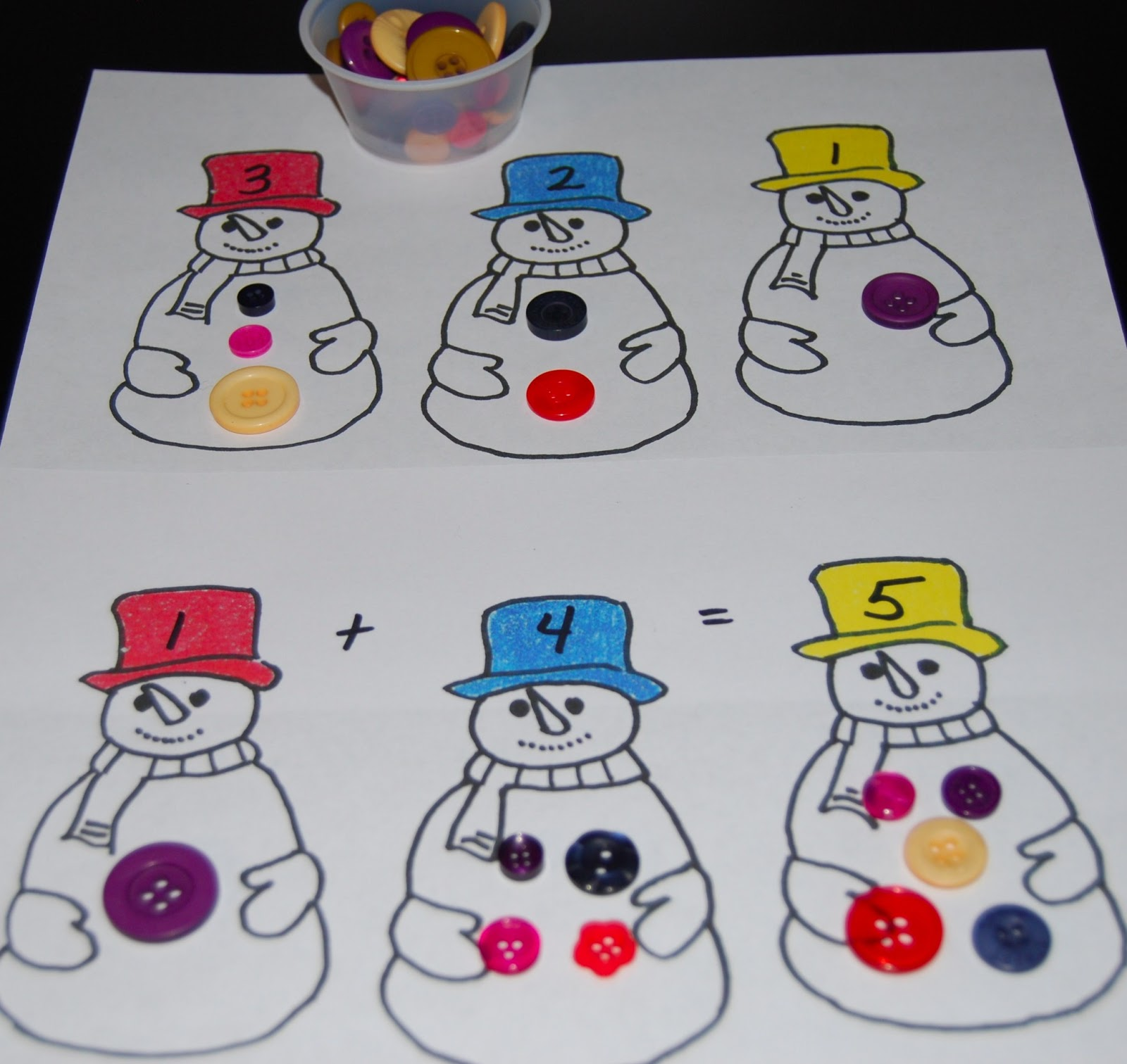 Winter Addition For Worksheet For Preschoolers