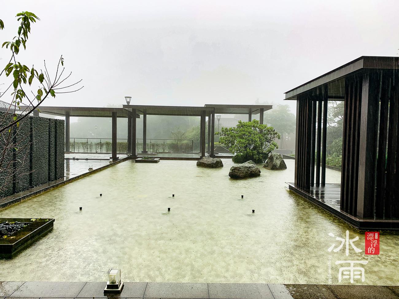 陽明山天籟溫泉會館|露天風呂一景