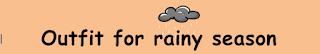pakaian musim hujan