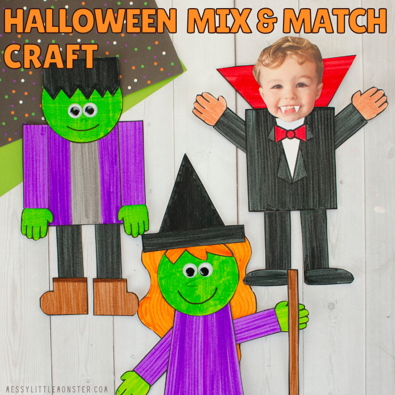 Halloween mix and match crafts for kids